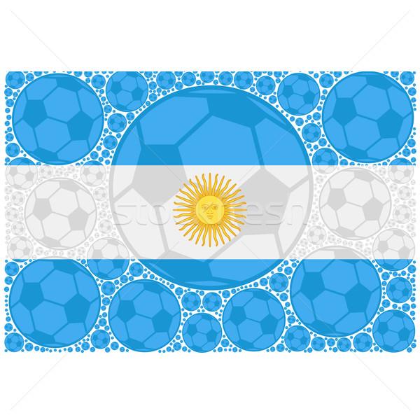 Аргентина Футбол иллюстрация флаг Сток-фото © bruno1998