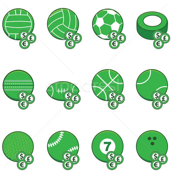 Green sports betting icons Stock photo © bruno1998