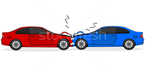 Auto crash cartoon illustratie tonen twee Stockfoto © bruno1998