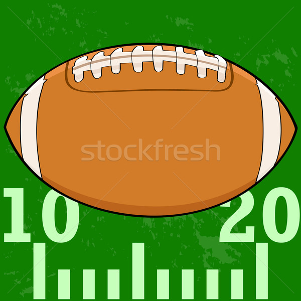 Football on field Stock photo © bruno1998