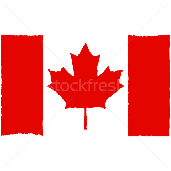 Painted Canadian flag Stock photo © bruno1998