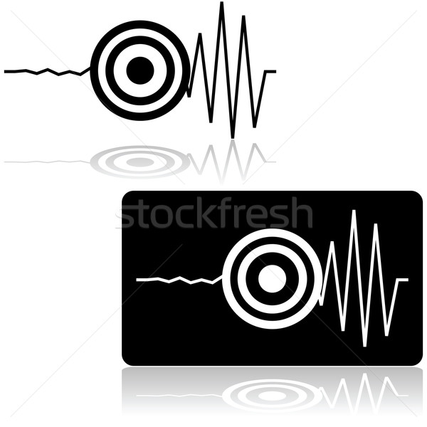 Earthquake icon Stock photo © bruno1998