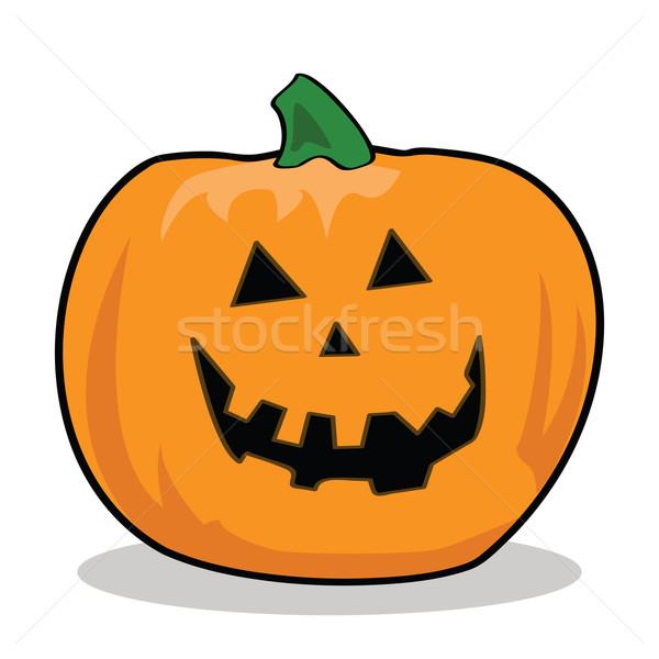 Karikatür örnek kabak halloween gülümseme sanat Stok fotoğraf © bruno1998