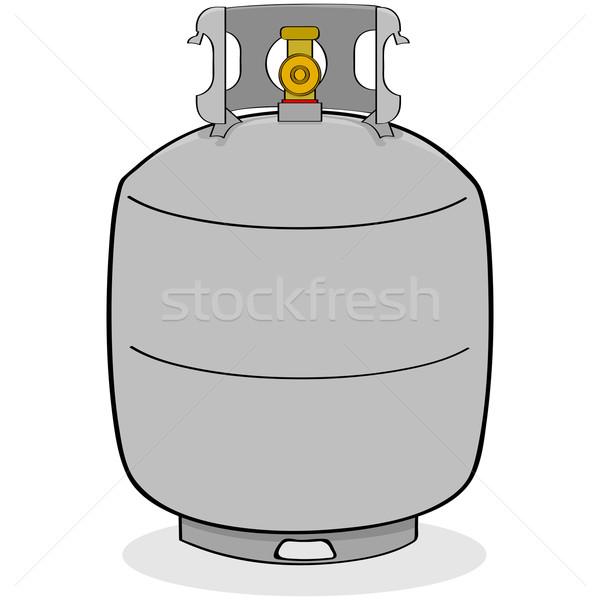 цистерна Cartoon иллюстрация серый Открытый аннотация Сток-фото © bruno1998