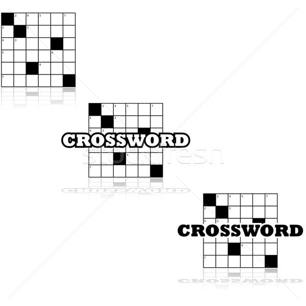 Crossword icons Stock photo © bruno1998
