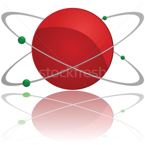атом иллюстрация красный ядро Сток-фото © bruno1998