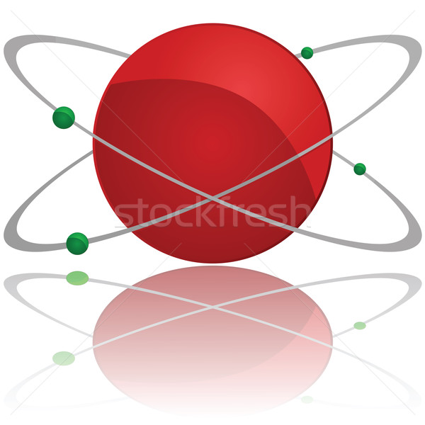átomo ilustração vermelho núcleo Foto stock © bruno1998