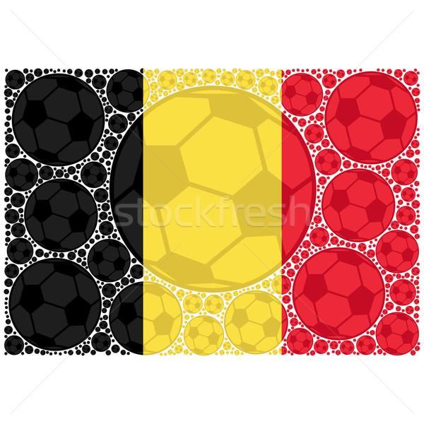 Belgium futball golyók illusztráció mutat zászló Stock fotó © bruno1998