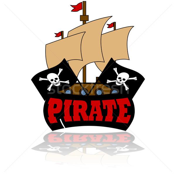 Pirate icon Stock photo © bruno1998