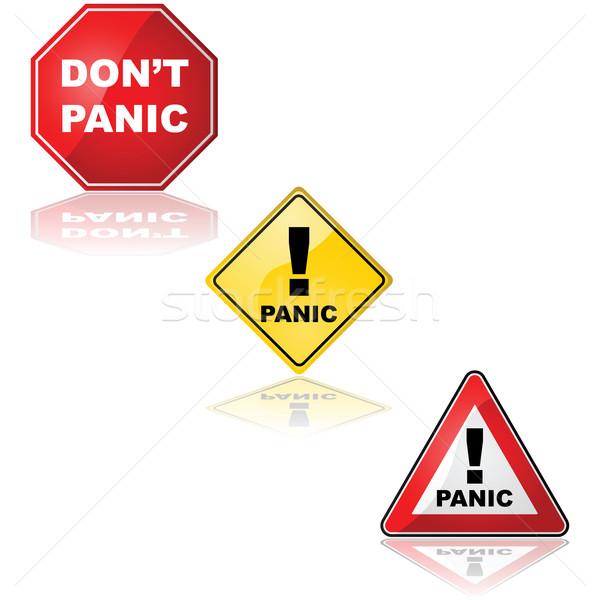 Panic sign Stock photo © bruno1998
