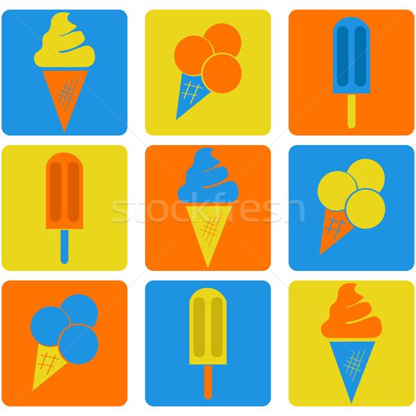 アイスクリーム アイコン 異なる 3 ストックフォト © bruno1998