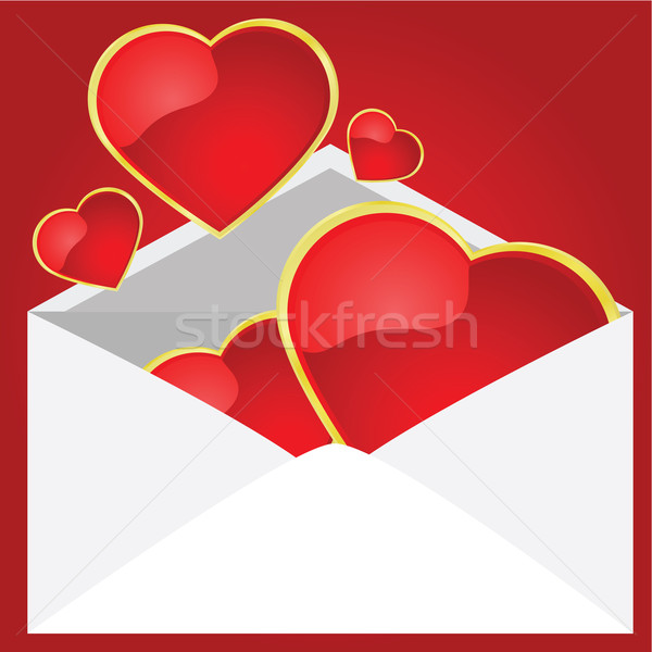 любви письме иллюстрация конверт Сток-фото © bruno1998