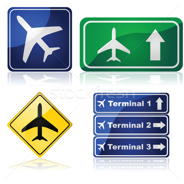 Airport signs Stock photo © bruno1998