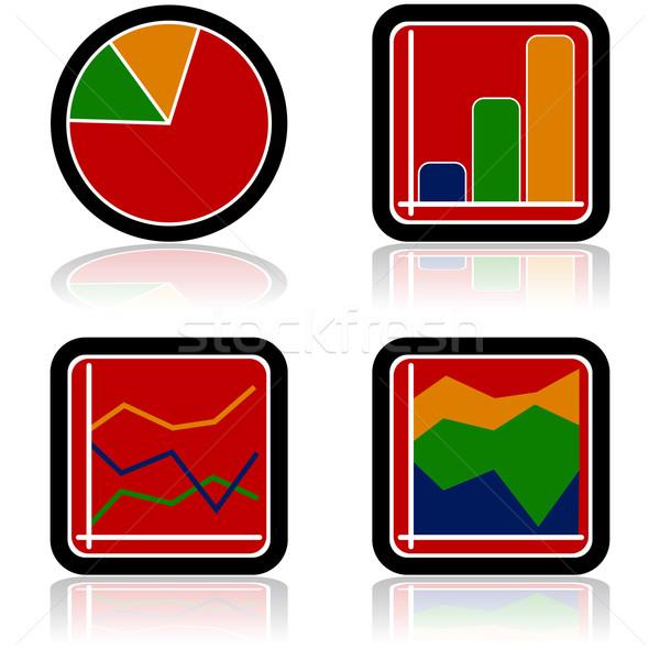графа иконки четыре различный Сток-фото © bruno1998