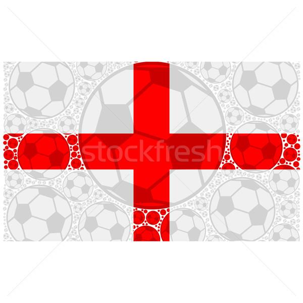 イングランド サッカー 実例 フラグ ストックフォト © bruno1998