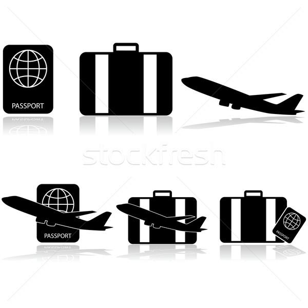 Travel icons Stock photo © bruno1998