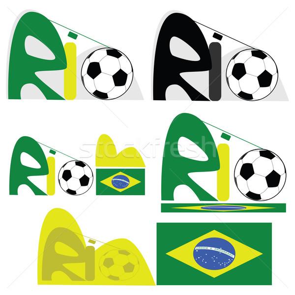Rio de Janeiro gráfico ilustração cidade Brasil esportes Foto stock © bruno1998