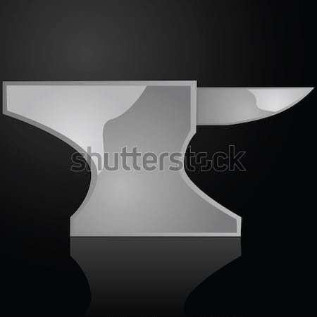 Fényes üllő illusztráció vasaló fekete felület Stock fotó © bruno1998
