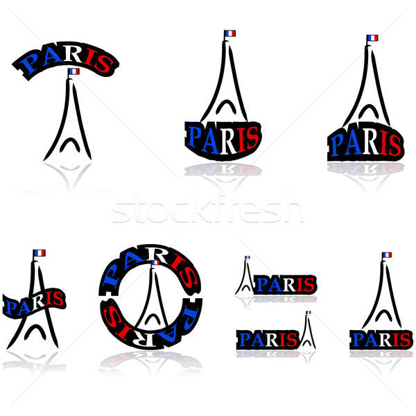 Paris icons Stock photo © bruno1998