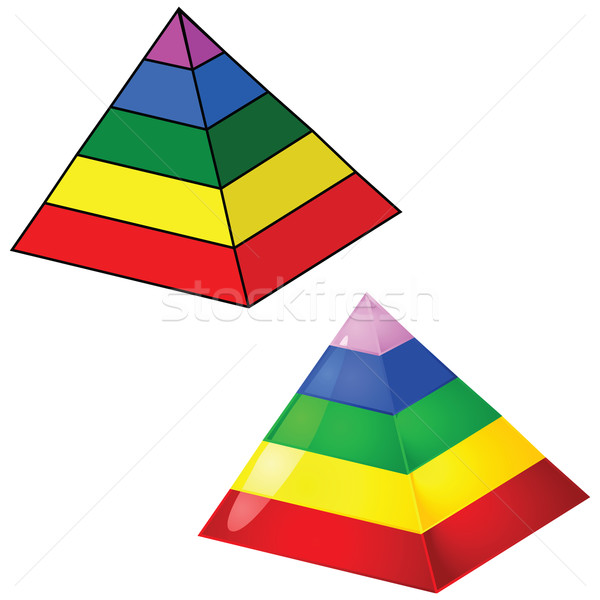 Five-tier pyramid Stock photo © bruno1998