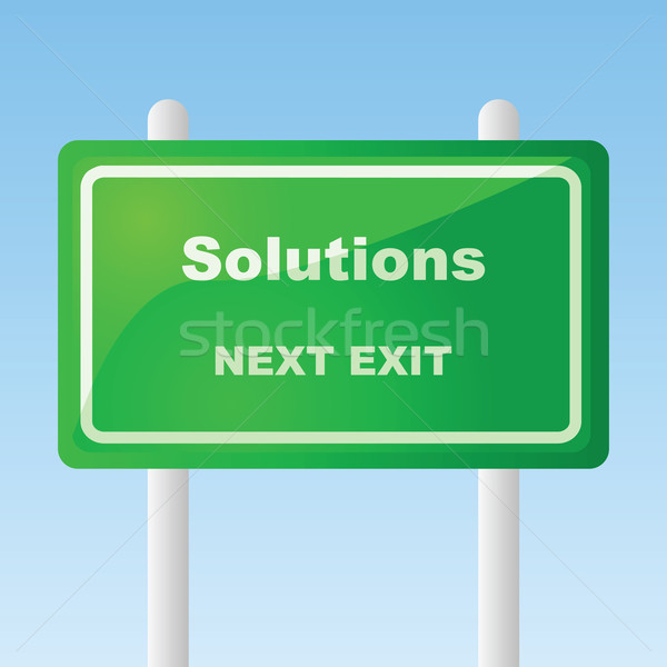 Solutions traffic sign Stock photo © bruno1998
