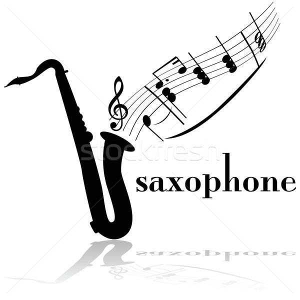 саксофон иллюстрация музыки отмечает из Сток-фото © bruno1998