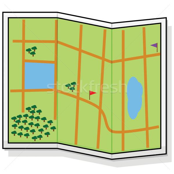 Carte cartoon illustration générique routes Photo stock © bruno1998