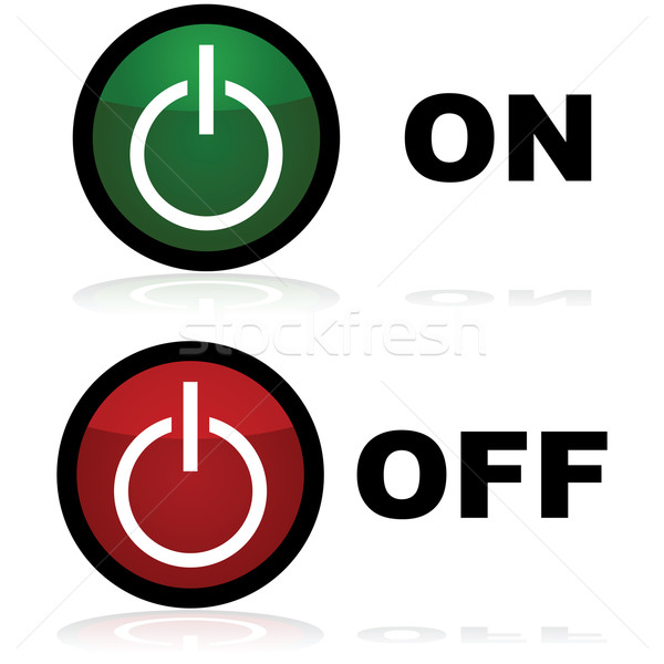 On and off buttons Stock photo © bruno1998