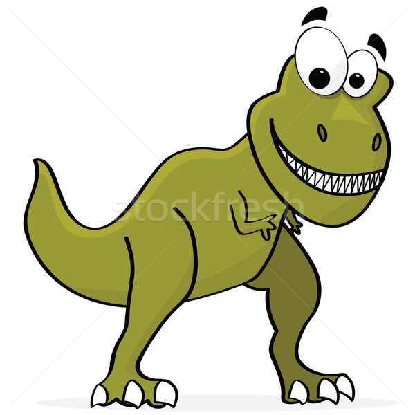 Dinosauro cartoon illustrazione cute sorriso felice Foto d'archivio © bruno1998