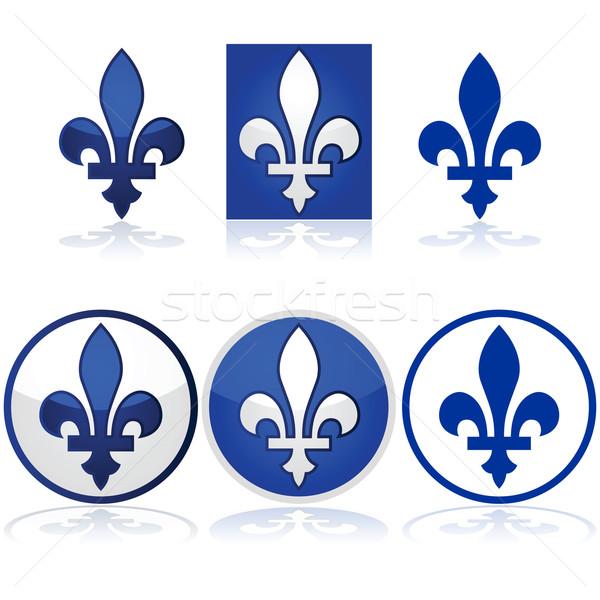 Quebec fényes illusztráció mutat kék fehér Stock fotó © bruno1998