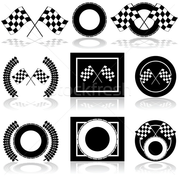 Racing иконки пару Сток-фото © bruno1998