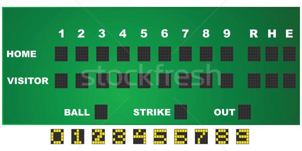 Baseball scorecard Stock photo © bruno1998