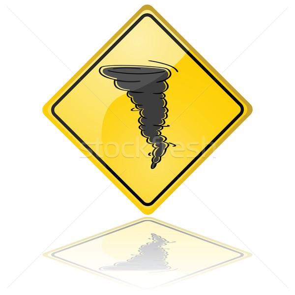 Tornado warning sign Stock photo © bruno1998