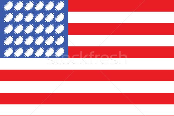 USA football flag 2 Stock photo © bruno1998