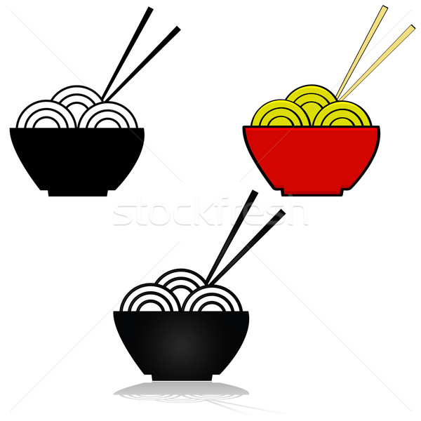 Noodle icon Stock photo © bruno1998