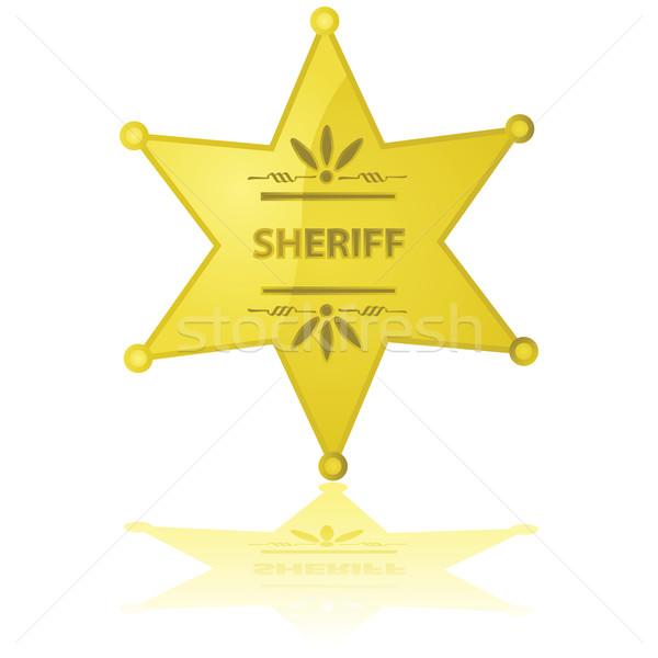 Sheriff csillag fényes illusztráció arany művészet Stock fotó © bruno1998