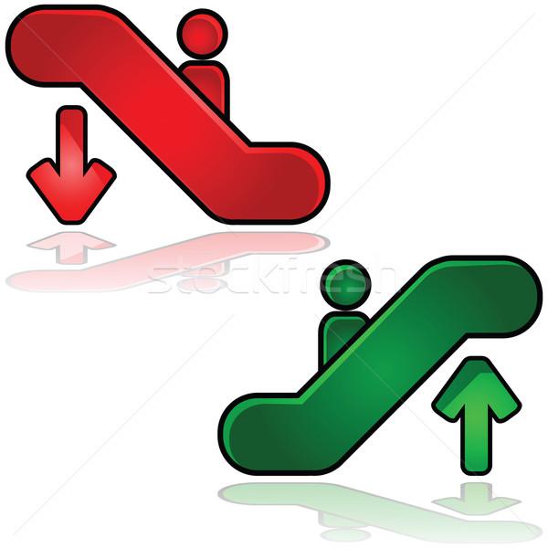 Escalator signes illustration une up Photo stock © bruno1998
