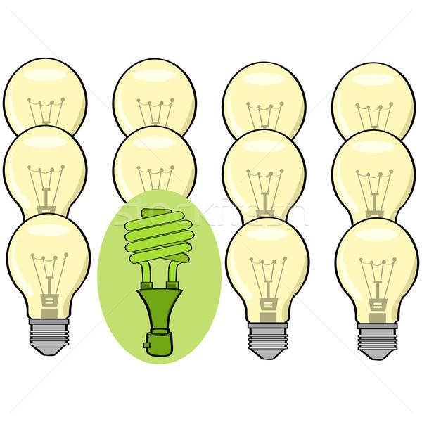 Groene geweten illustratie tonen tl lamp Stockfoto © bruno1998
