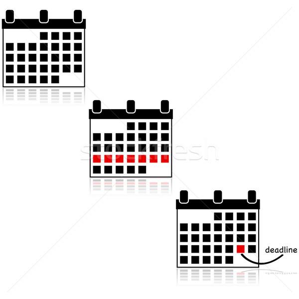 Calendar icons Stock photo © bruno1998