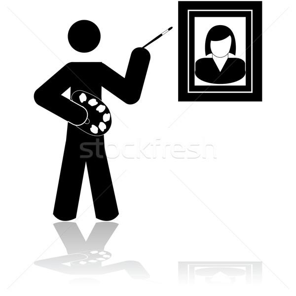 Ressam sanatçı ikon fırçalamak Stok fotoğraf © bruno1998