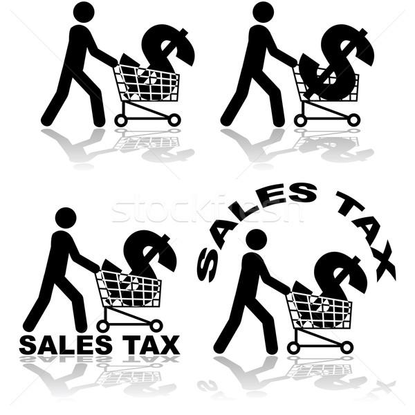 販売 税 実例 男 ストックフォト © bruno1998