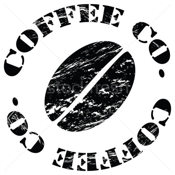 Kávébab koszos illusztráció szavak kávé cég Stock fotó © bruno1998