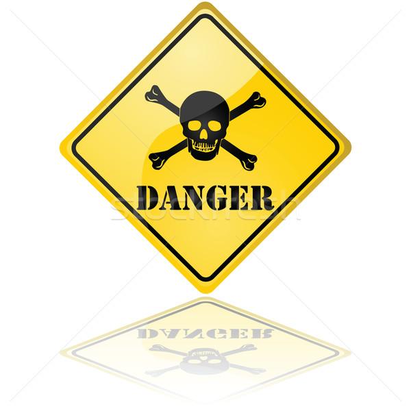 знак опасности иллюстрация череп искусства Сток-фото © bruno1998