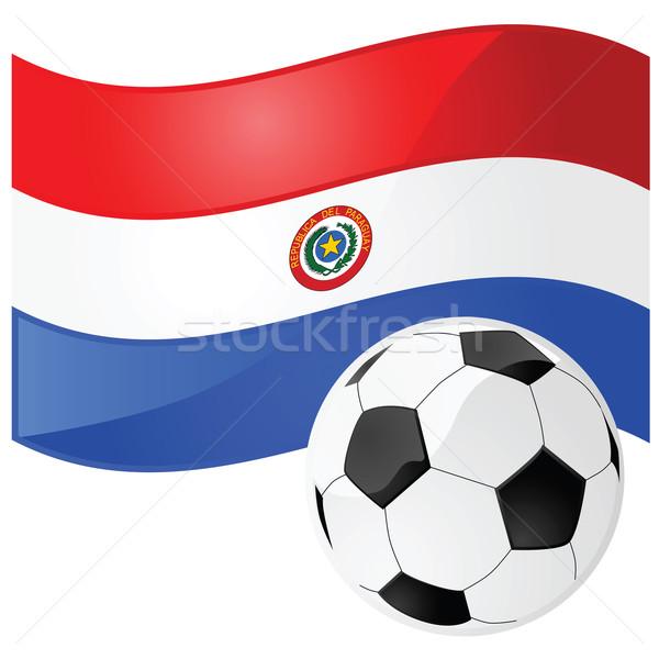 Paragwaj piłka nożna ilustracja banderą piłka nożna Zdjęcia stock © bruno1998