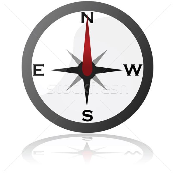 Compass icon Stock photo © bruno1998