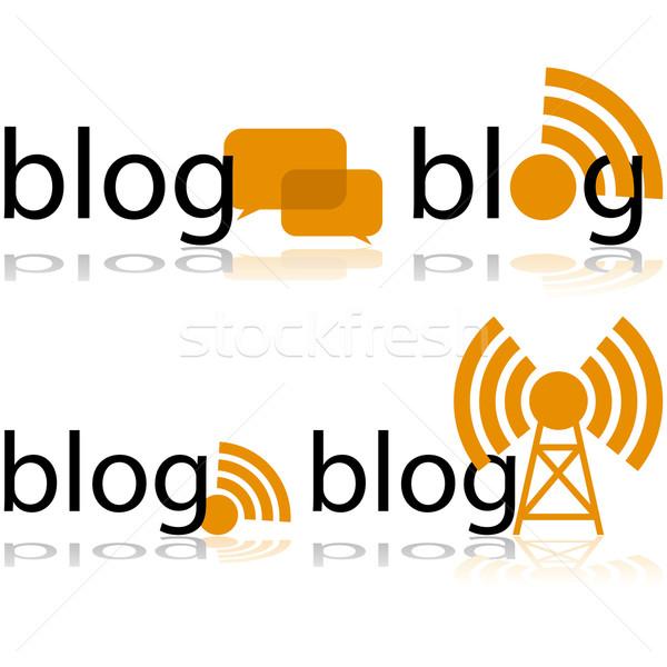 ブログ アイコン 言葉 異なる ストックフォト © bruno1998
