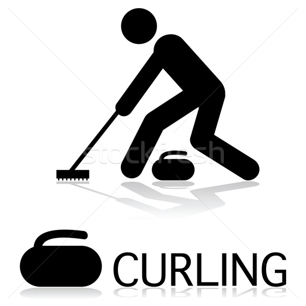 Stock photo: Curling icon