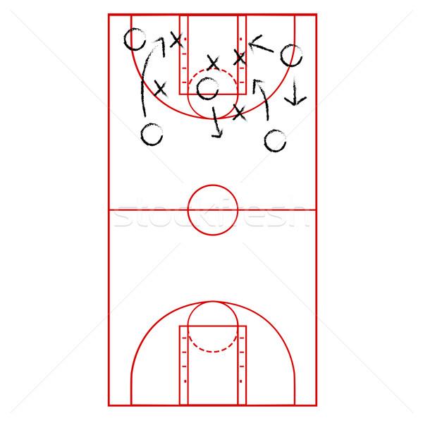 Basketbol oyun plan karikatür örnek Stok fotoğraf © bruno1998