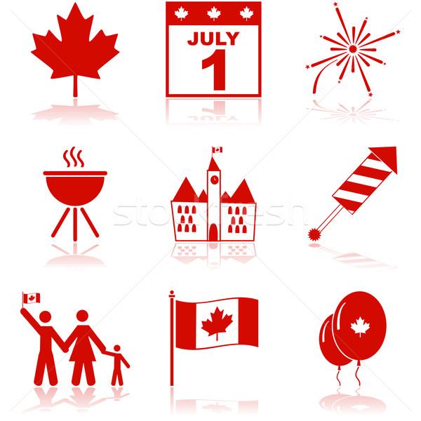 Canada Day icons Stock photo © bruno1998
