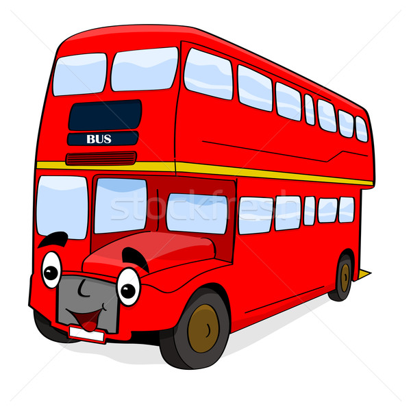 Stock photo: Happy cartoon bus